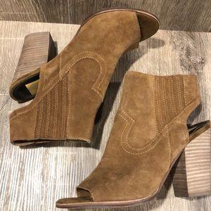 Dolce Vita block heeled peep toe booties